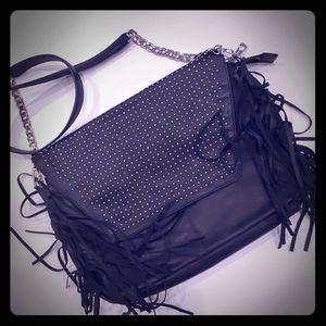 Kelsi Dagger Fringe Crossbody studded bag like new